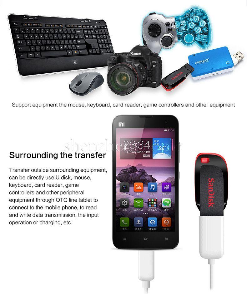 Micro USB câble de transfert de données OTG mâle micro USB vers femelle adaptateur USB pour Smartphone HTC Android téléphones tablettes avec fonction OTG