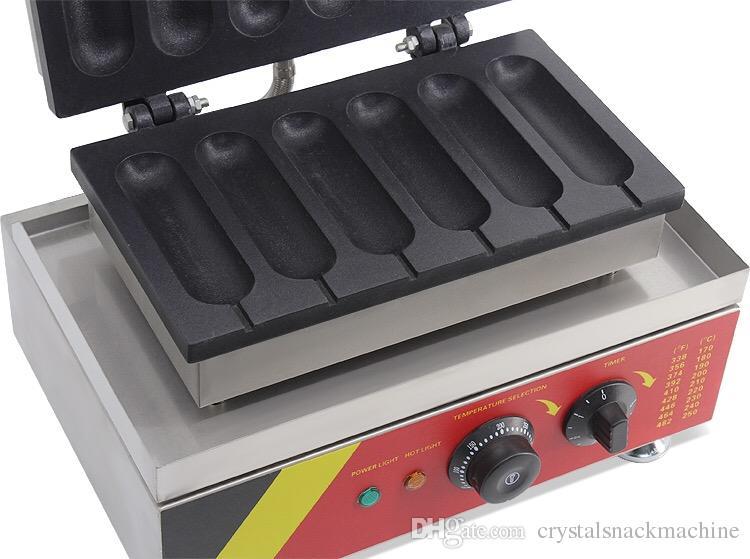 Ticari Waffle Stick Maker Lolly Waffle Maker Sıcak Köpek Waffle Makinesi Ekmek Sopa Fırın Paslanmaz Çelik