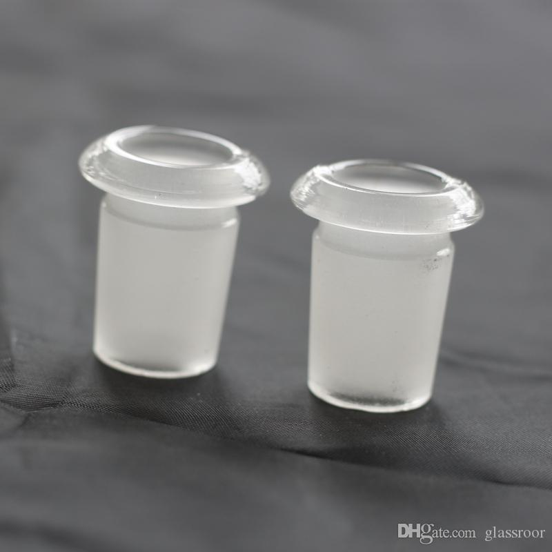 18MM MALE TO 14MM FEMALE LOW PROFILE ADAPTER converter glass adapter for glass water pipe glass bong Reducer Adapte