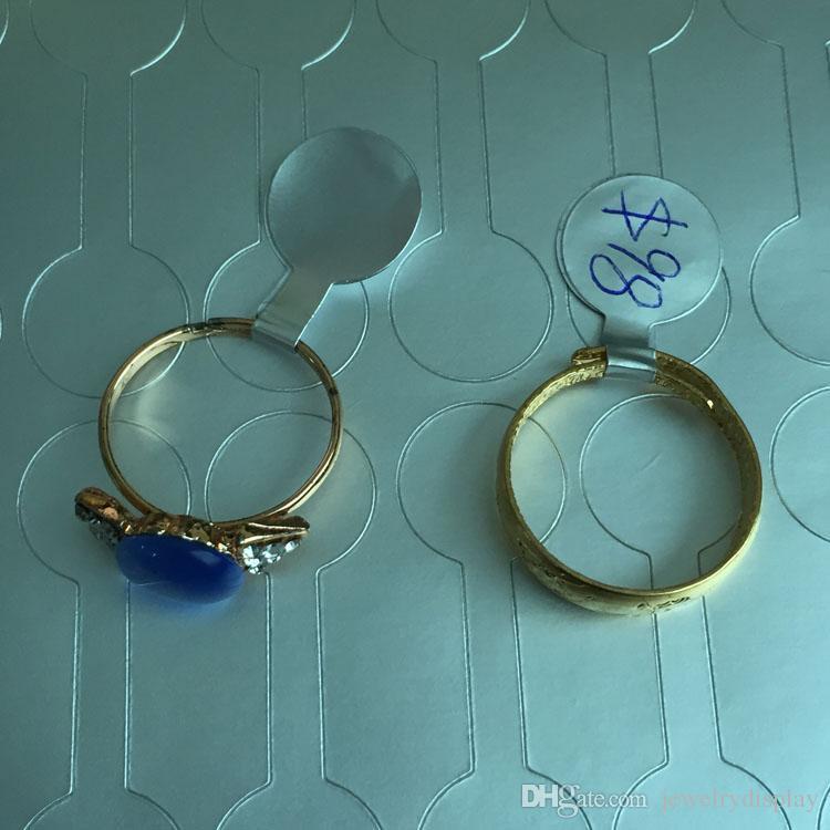 1000 unids ronda etiqueta de joyería de moda precio de venta al por menor etiqueta de etiqueta etiqueta autoadhesiva herramienta anillo de papel etiquetas de la joyería