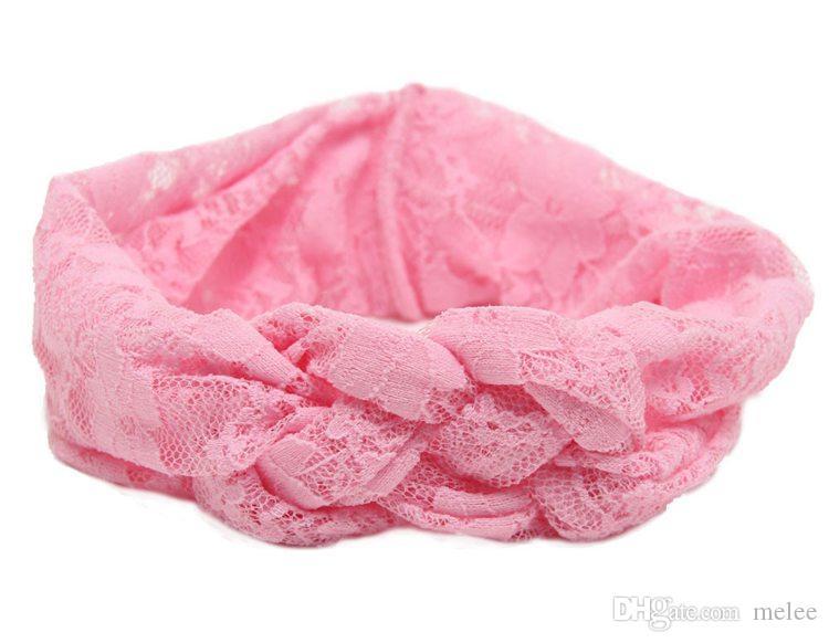 Baby Lace Cross Fasce Ragazze capelli intrecciati con i bambini Safely Cross Knot Accessori capelli Head Wrap Lovely Infant Elastic Headband