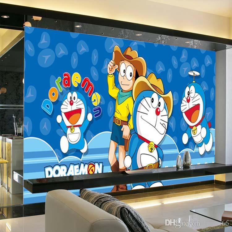 anime giapponese Doraemon Wallpaper parati Cartoon Photo Wallpaper seta grande arte della parete arredamento della camera da letto del soffitto stanza di Kid