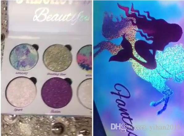 Yeni Varış iyi makyaj Aşk Luxe Güzellik Fantasy Paleti Makyaj İnanılmaz Güzel Vurgulayıcılar Göz Farı 6 Renkler Göz Farı