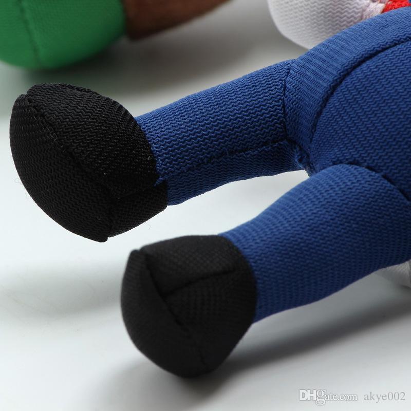 2 Style 9 cm MARIO Et LUIGI Super Mario Bros En Peluche Poupée Porte-clés Pendentif Peluches Pour Bébé Bon Cadeaux