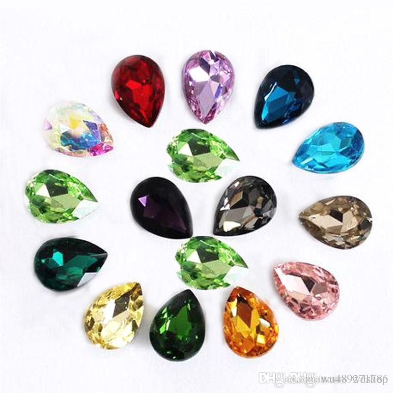 Wholesale 20 30mm Crystal Drop Rhinestone Buttons Glass Gems Crystal ... 93a1a2560482