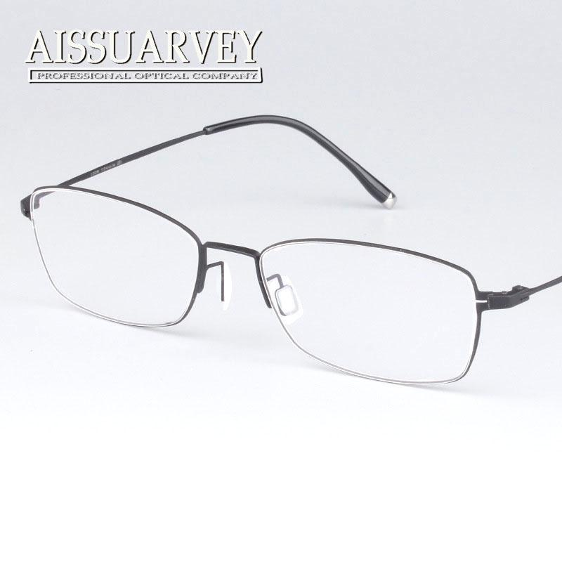 2782e839818 2019 Wholesale Vintage Classic Full Rim Pure Titanium Optical Prescription  Clear Eye Glass Eyeglasses Frame For