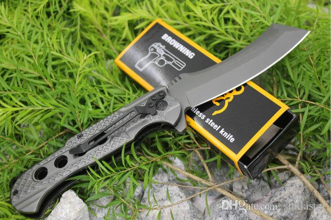 Browning 363 Titanium Tactical Folding Knives 3Cr13Mov Snake Blade 57HRC Camping Hunting Survival Pocket Military Utility EDC Collection