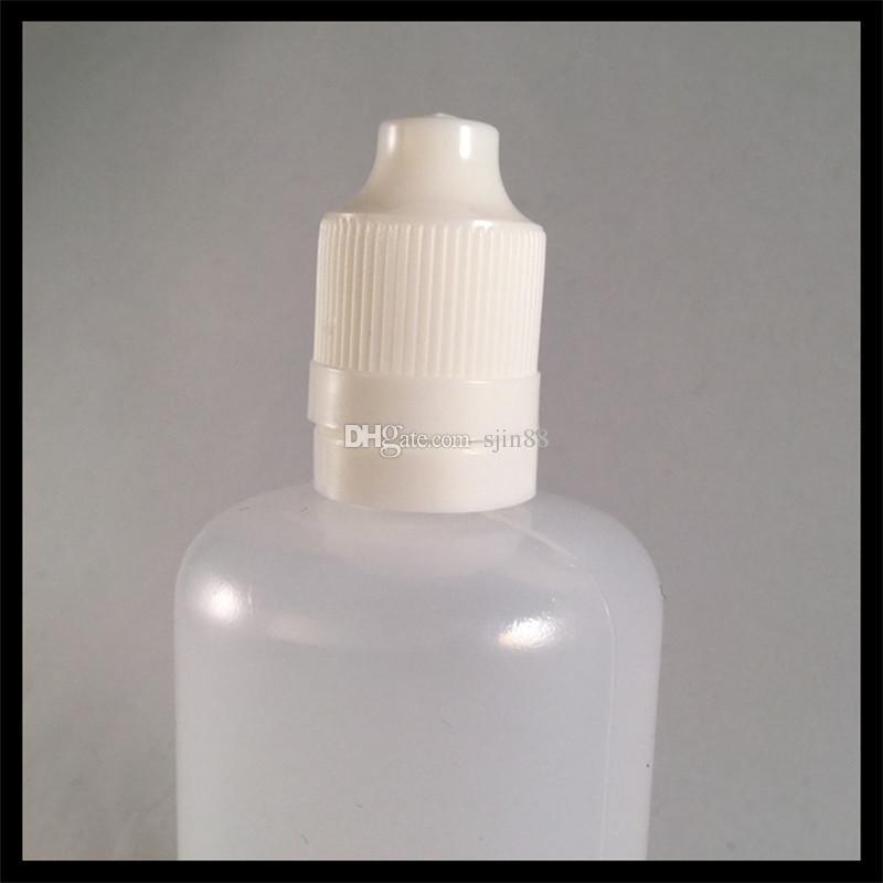 Frasco conta-gotas de plástico 100ml para e líquido com ponta de agulha e tampa de segurança para crianças para e suco de cigarro