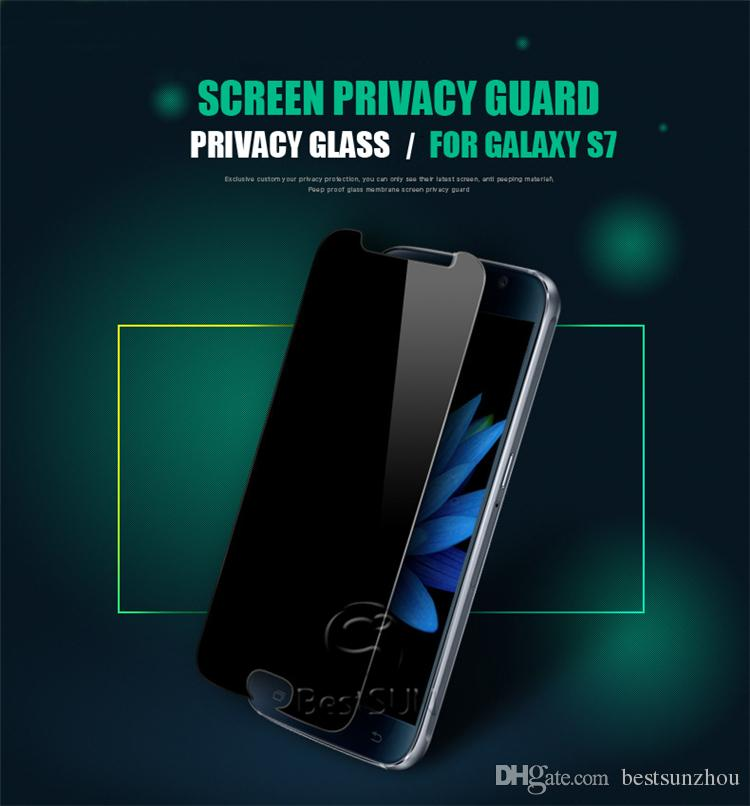 Privacy Tempered Glass For S7 iPhone 6 6s Note 5 Screen Protector Anti-Spy Film Screen Guard Cover Shield