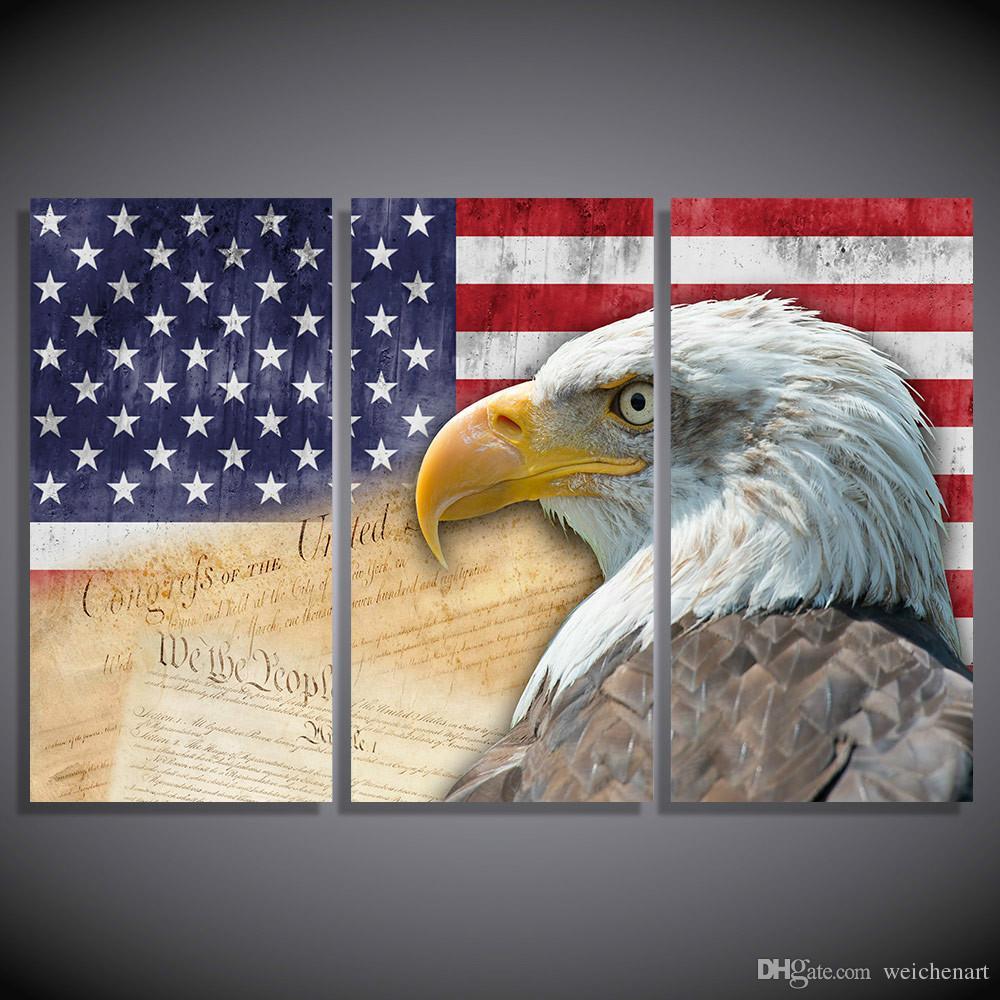 3 del pannello HD stampati Animali Eagles tela Stampa Room Decor Stampa Pittura Poster tela di canapa