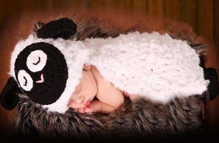 Großhandel Reizendes Lamm Baby Häkelarbeit Foto Stützen ...