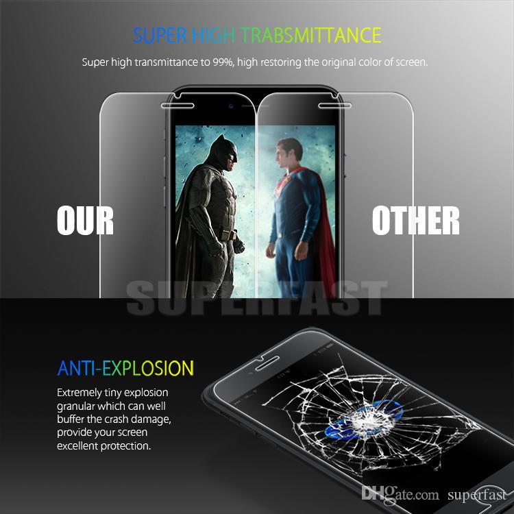 Protecteur d'écran pour iPhone 11 PRO MAX XR XS 6S 8 PLUS Google Pixel 4 LG K30 2019 Film de protection en verre trempé 1 PACK avec boîte