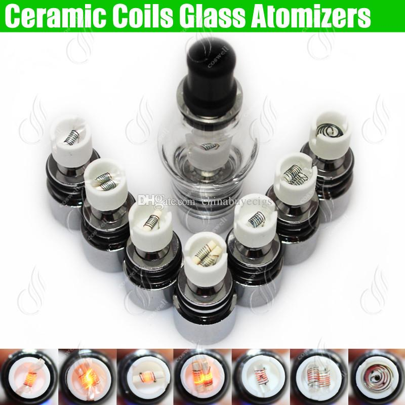 Toppkvalitet Glas Globe Atomizer Wax Dry Herb Tank Förångare Herbal Dual Ceramic Quartz Rod Wickless Coils Vape Pen Vapor E cigar cigaretter