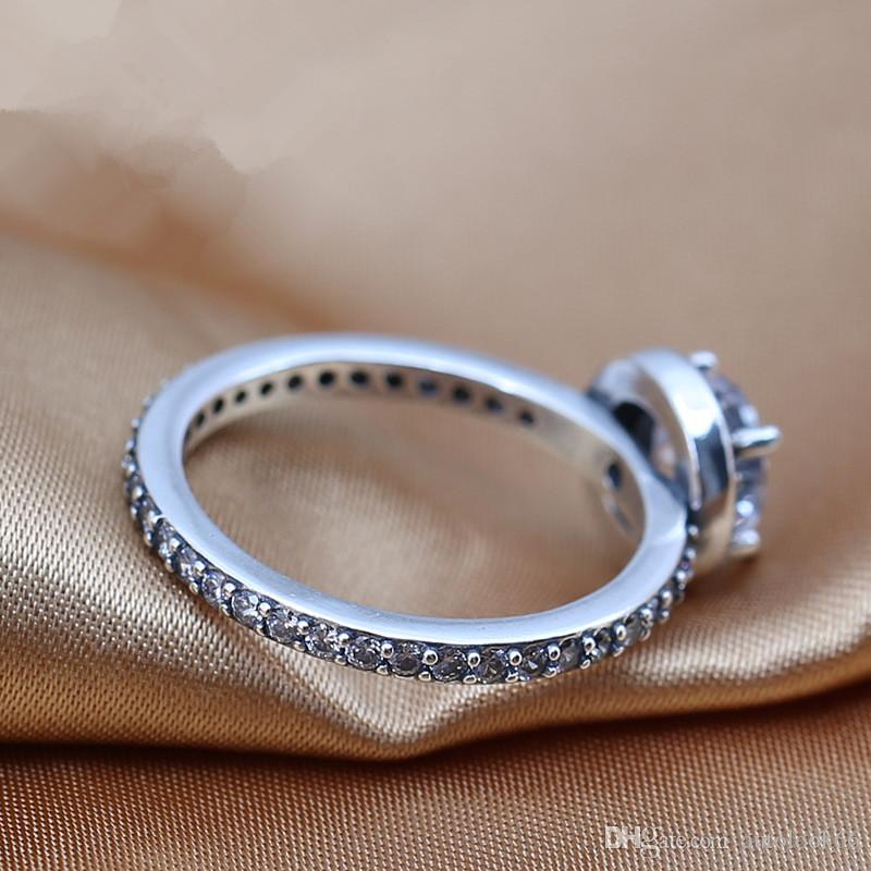 2016 charms rings s925 ale sterling silver luxury diamond style band rings with rings hot sales