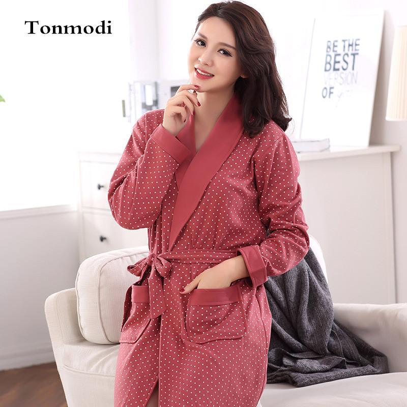 Online Cheap Wholesale Sleep Robes For Women Autumn Bathrobes Long ...