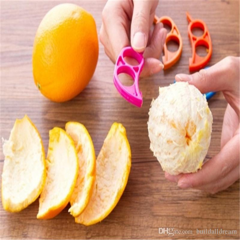 3 unids / lote Limón Naranja Pelador Fácil Abrelatas Herramientas de Cocina Ayudante de Frutas Vegetales Herramientas a461-a466