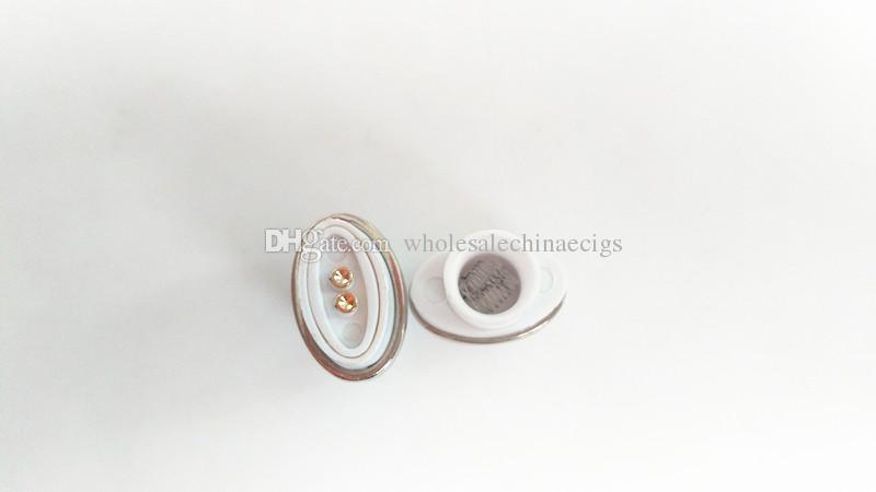 MOQ Quartz Wax Ceramic Dual Coil Replacement Core Atomizer For Wax Vaporizer Pen Quartz Rod for Elips Cloud Pen micro g pen