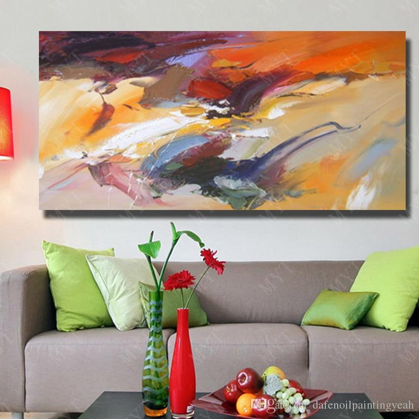 Single Set Abstract Art Oil Painting on Canvas for Living Room Decor Hand Painted Reproduction Oil Painting No Framed