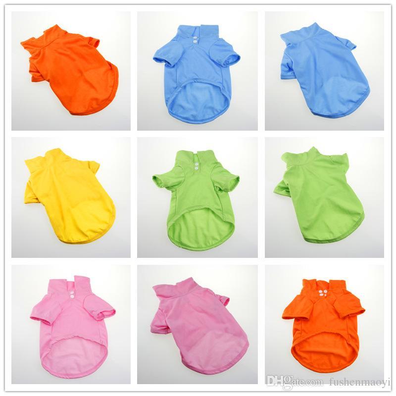 Pet Fashion Series Hund Herbst Kleidung Polo stricken Hemden 5 Größen 4 Farben rot, grün, gelb, blau und orange