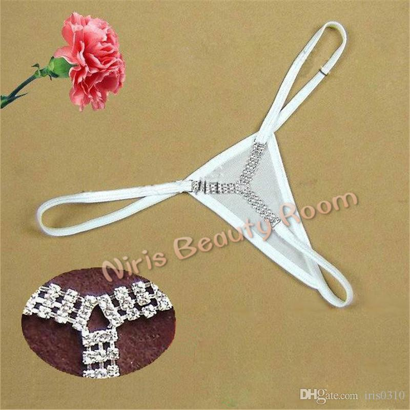 Sexy mini Micro Thongs and G-Strings Women Rhinestone Diamond panties low waist V-string Y strings erotic Lingerie Underwear t back tangas