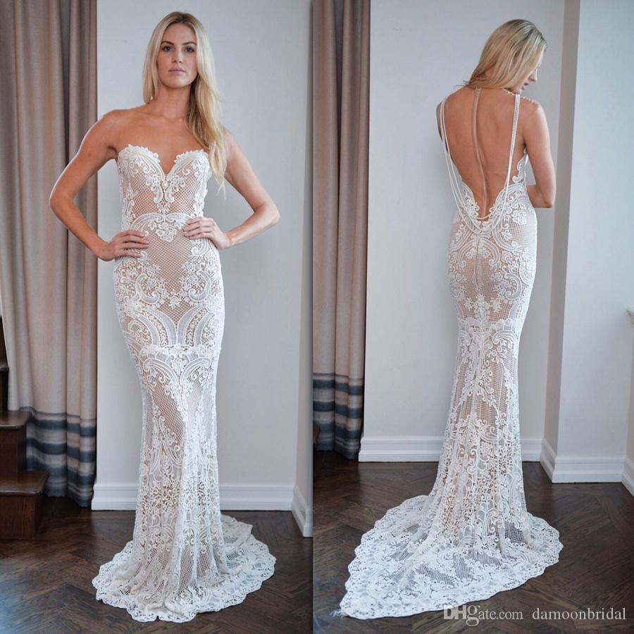 Stunning Berta 2017 Wedding Dresses Mermaid Appliques Guipure Lace ...