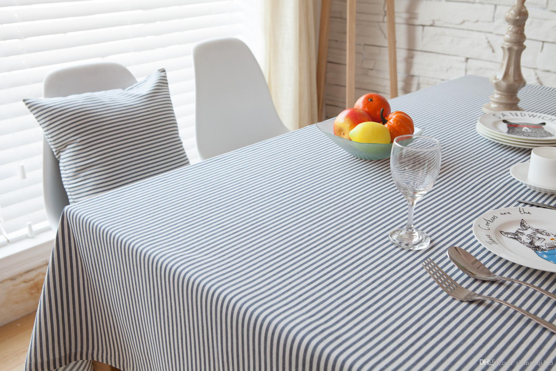 Japan And South Korea Stripe Contracted The Tablecloth Linen