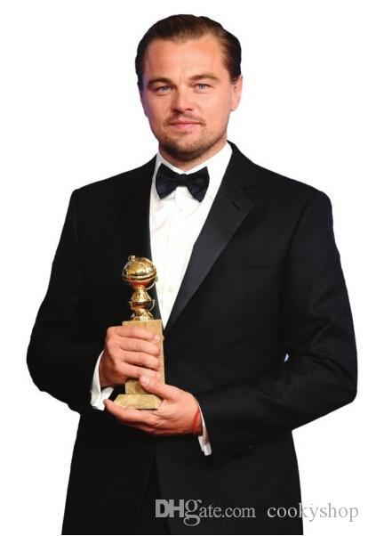 Globos de oro Película Rey Leonardo DiCaprio Tailcoats Dos botones Trajes de boda formales Novio Tuxedos Classic Chaqueta + Pantalones