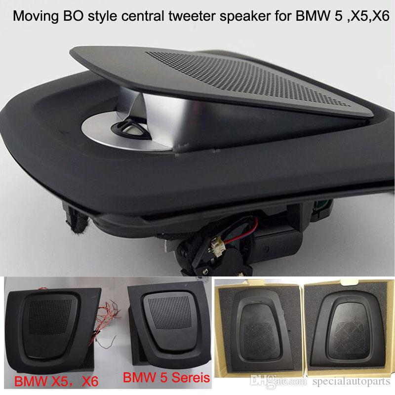 1 kit moving acoustic lens BO style car central tweeter speaker woofer for  BMW 5 series,X5,X6