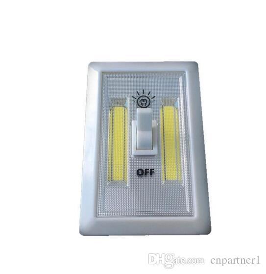 Fabrikverkauf Magnetische Mini COB LED Schnurlose Lichtschalter Wand Nachtlichter Batteriebetriebene Küchenschrank Garage Schrank Notfall Lampe
