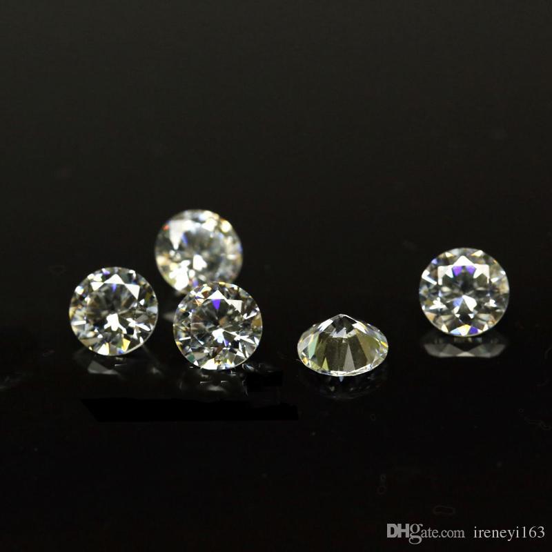 Günstigen Preis Kleine Größe 0,7mm-1,6mm 3A Qualität Simuliert Diamant Weiße Runde Form Zirkonia Lose CZ Steine Für Schmuck Machen 1000 stücke