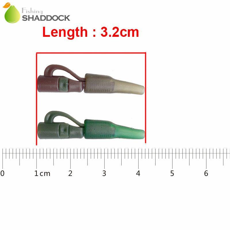 50 قطع 3.2 سنتيمتر مقاطع الرصاص السلامة مع دبوس أنبوب الأخضر القهوة abs البلاستيك الكارب الحفارات موصل الكارب الصيد الملحقات معالجة