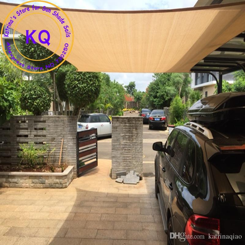 Exceptionnel 3 X 3 M Squre Sun Shade Sail Coolaroo Garden Patio HDPE UV Sunscreen Sail  With Ropes Factory Direct Wholesale Sun Shade Sail Sun Sail Shade Sail  Online With ...