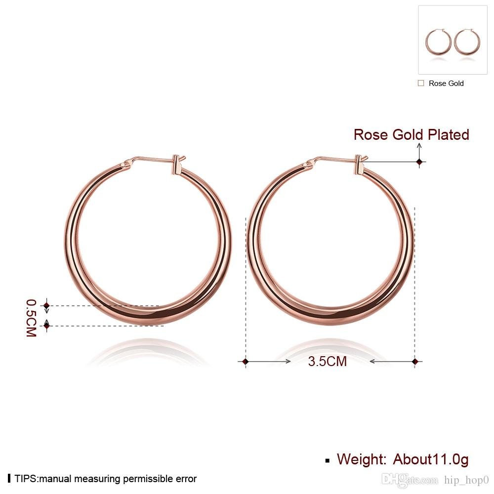 Creole Big Hoop Earrings 18K Gold Plated Rose Gold Jewelry for Women Fashion Sexy Party Jewelry Top Quality Factory Price