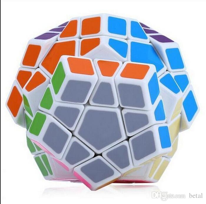 Shengshou Megaminx Magic Cubes Pentagon 12 Sides Gigaminx PVC Sticker Dodecahedron Toy Puzzle Twist Educational Toys For Kids