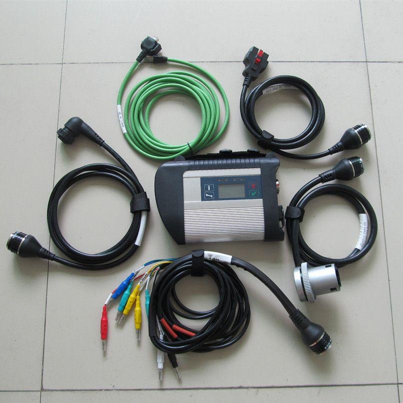 MB Estrela C4 SD Connect Ferramenta de Diagnóstico Wi-Fi para Carro Caminhão Scanner Cabos Compactos Kit completo 2 anos de garantia