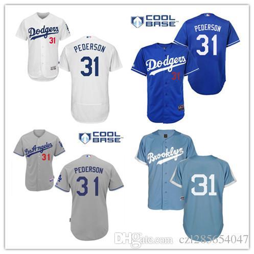 los angeles dodgers 31 joc pederson blue new cool base stitched baseball jersey mlb