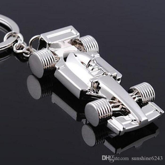 10 adet / 1 grup YENI Moda Formülü Bir Grand Prix tarzı Paslanmaz çelik anahtarlık Altın anahtarlıklar en iyi hediye Ücretsiz kargo