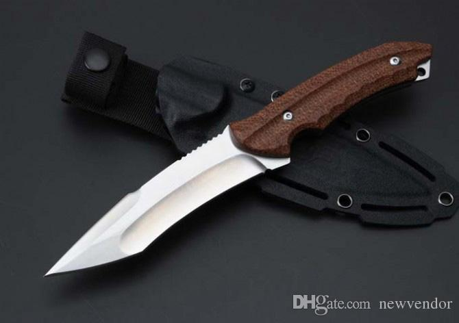 Custom Knives - Fixed Blade Knife Outdoor Tactical Hunting Knife AUS-8 Tanto Blade Hemp Handle Survival Straight knives
