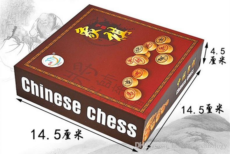 3.5CM Chessman + PU Tablero de ajedrez Madera Juego de ajedrez chino Juegos de mesa Juguetes educativos