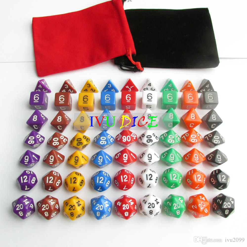DND Table BOARD GAME Dungeons&Dragons number dice Purple Black Blue White Green Red Yellow Child Party dices IVU