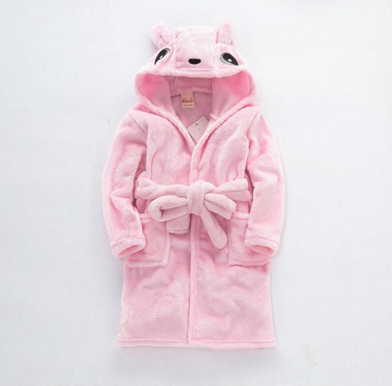 Pajamas Baby Animal Plush Bathrobe Baby pc 1 boy girl soft velvet robe pajamas coral children dress baby clothes