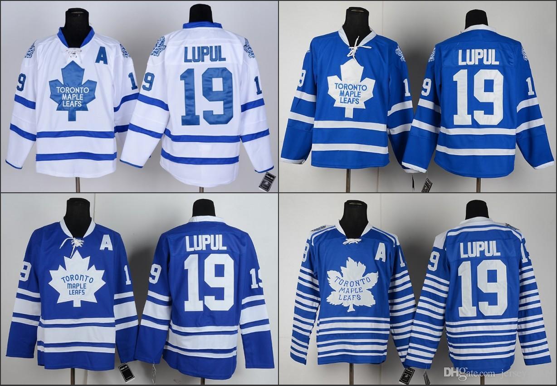 dade97cb3 2016 Men s Toronto Maple Leafs  19 Joffrey Lupu Hockey Jersey White Blue  High Quality Stitched Size S-3XL Toronto Maple Leafs Jerseys Joffrey Lupu  Jerseys ...