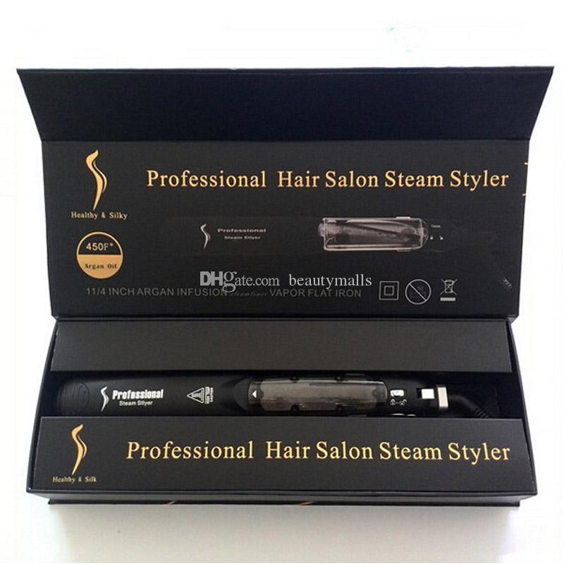 Oryginalne Kangroad Prostownica do włosów Profesjonalne Włosy Salon Steam Styler Tourmaline Ceramiczne płaskie żelazki z CE Rosz Dobra jakość