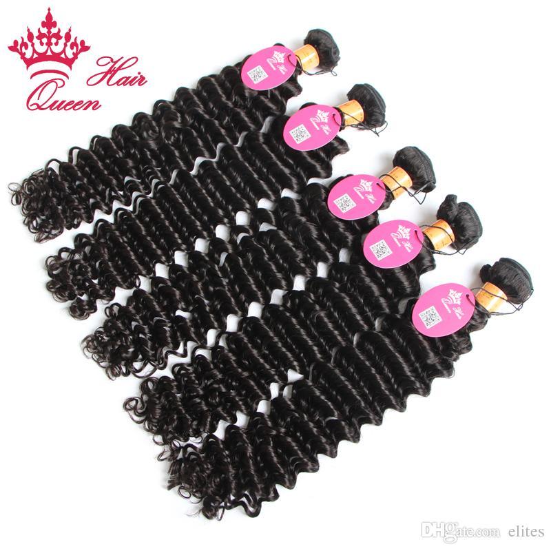 Queen Hair / Parti 100G / PC 100% Indian Virgin Hair Extension Deep Wave Hair 12