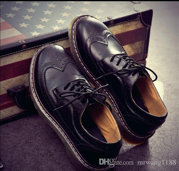 Brand Formal Dress Men Shoes Genuine Leather Brogue Business Classic Office Wedding Mens Casual Oxford Italian size:EU39-44