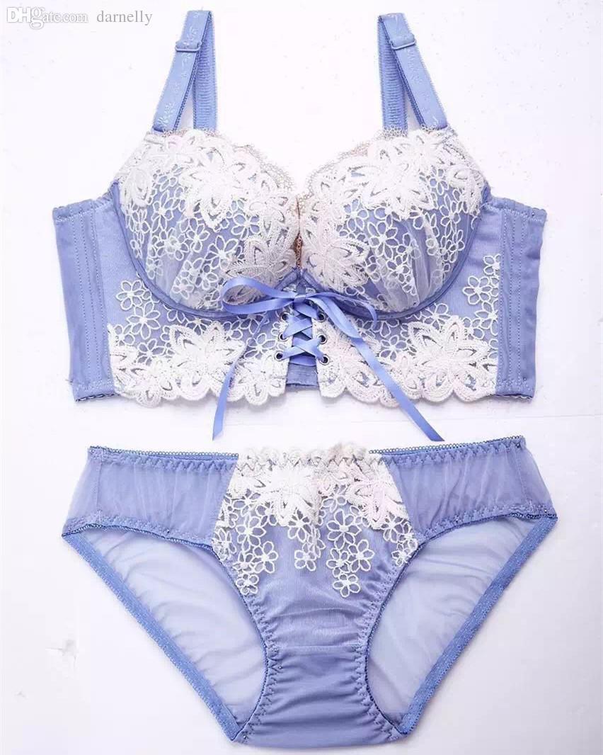 0d26f9930b678 Wholesale-Japanese Luxury New Deep V New Brand Sexy Push Up Bra Set ...