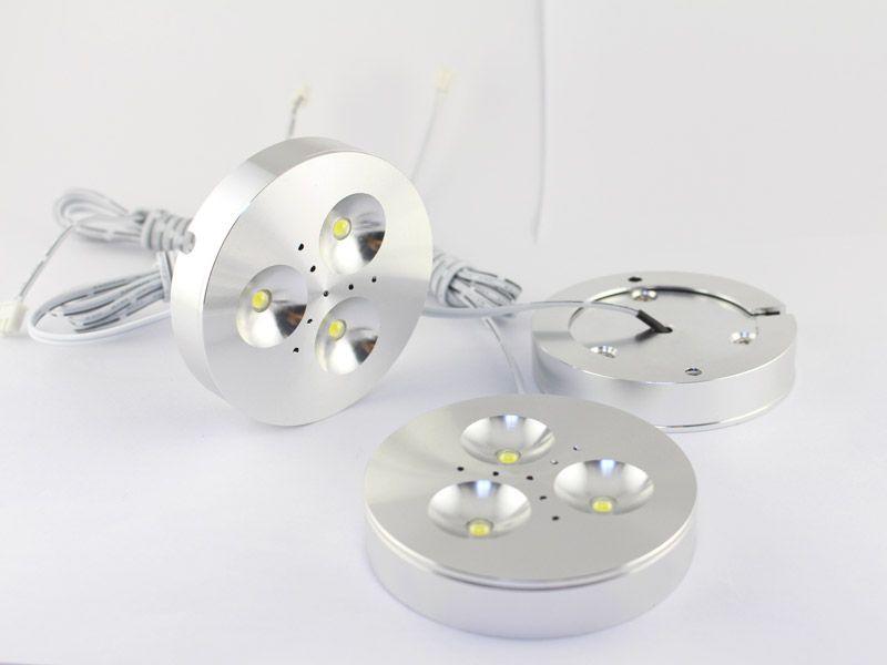 캐비닛 라이트 팩 조명 아래 12V DC 3W 디 밍이 가능한 LED Downlights 매우 밝은 따뜻한 화이트, 자연 화이트, 주방 조명에 대 한 멋진 화이트