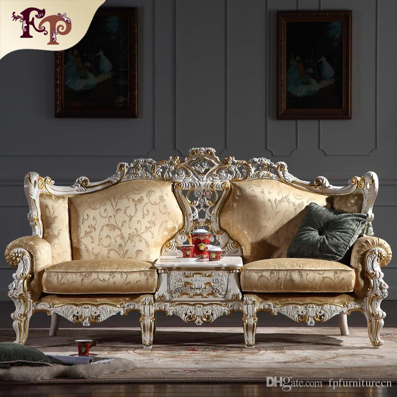 2018 Baroque Living Room Furniture European Classic Sofa Set With ...