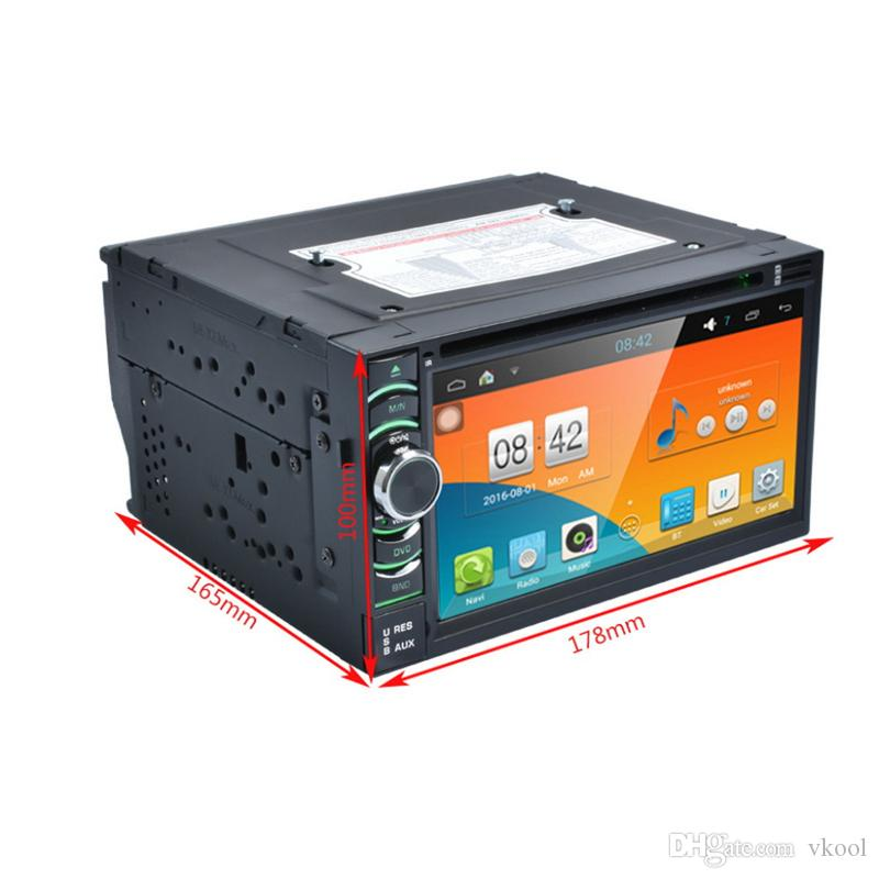 """2Din 6.2"""" HD Android 4.4.4 Capacitive Touch Screen Quad Core Car DVD Player GPS Navigation Bluetooth WIFI SD/USB/FM/AM"""
