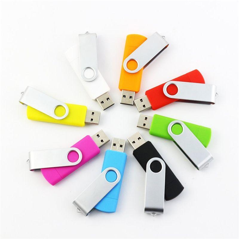 Android ISO akıllı telefonlar Tablet Pendrives U Disk thumbdrives için 64 GB 128 GB 256 GB OTG harici USB Flash Sürücü